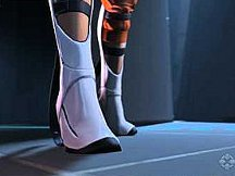 Chell sporting Long Fall Boots