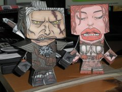 Geralt and Triss papercraft models