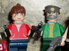 Zoey and Bill lego minifigs