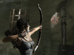 Lara with her bow