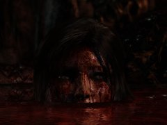Lara hiding in a pool of blood